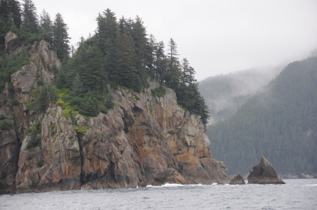 Resurrection Bay's beautiful, yet rugged coast.