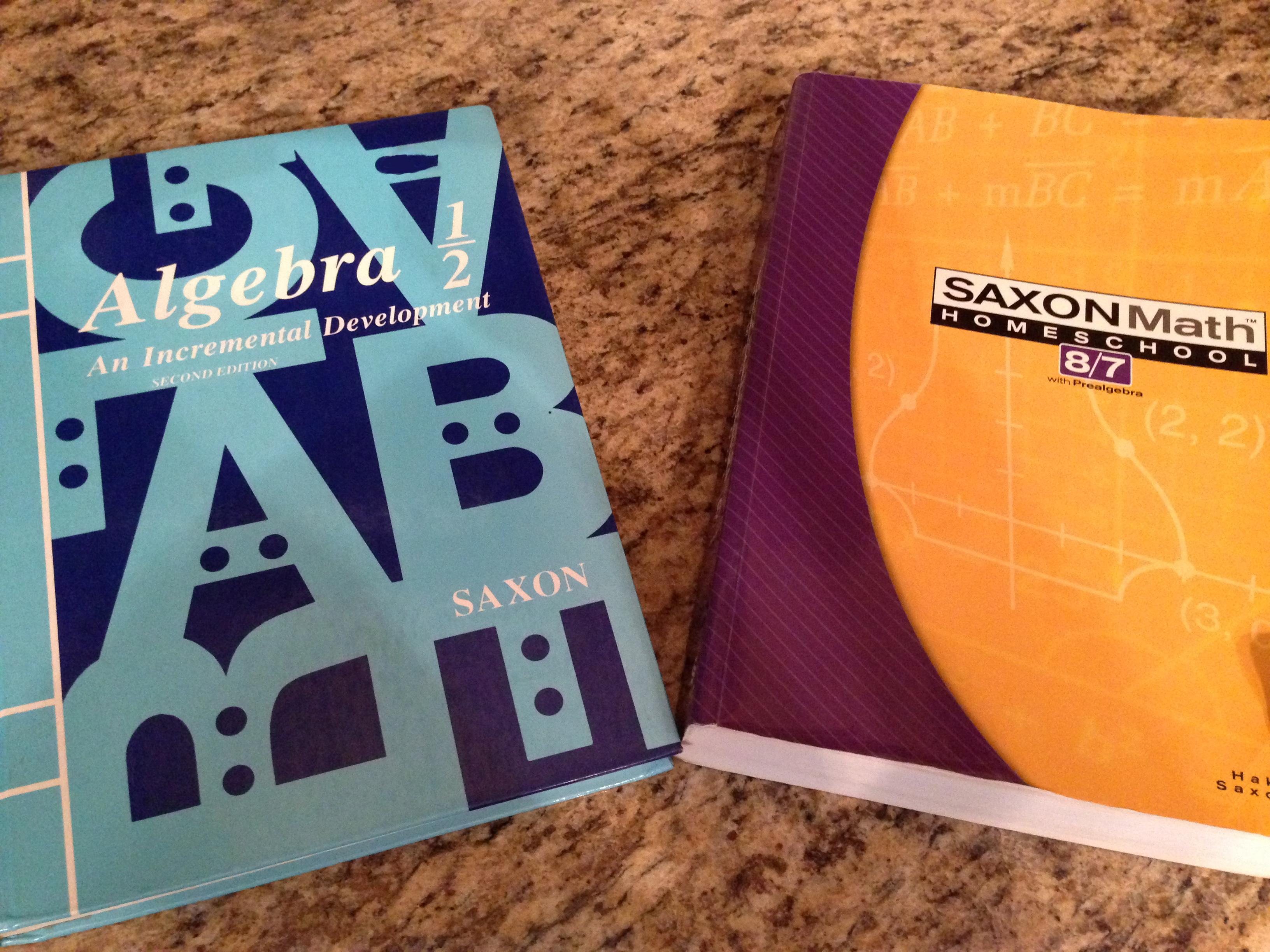Should my Child Do Saxon Math 8/7 or Algebra 1/2? | Studying
